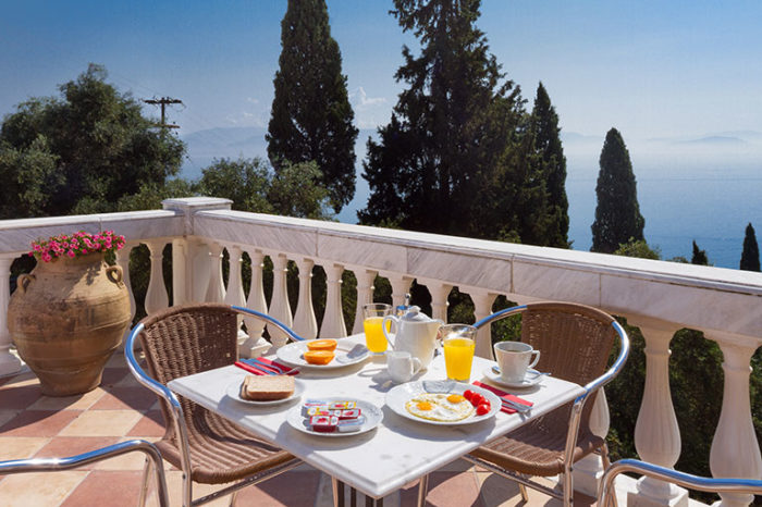 Balcony | Apartments Achillion Corfu